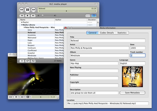 VLC for Mac Tags Editor